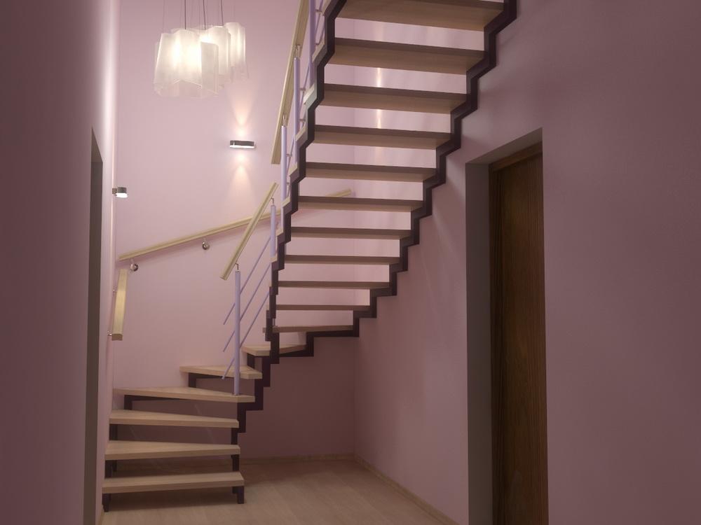 Лестница из профильной трубы фото чертежи