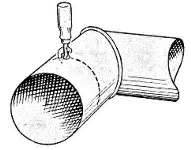 Как сделать жестяную трубу своими руками